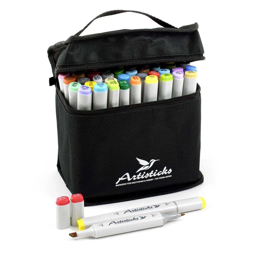 Профессиональные двусторонние спиртовые маркеры Artisticks® ARS 100-60 BAG