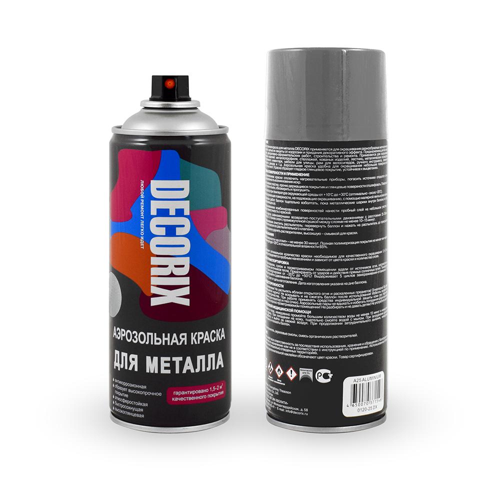 Аэрозольная краска для металла DECORIX 520 мл глянцевая