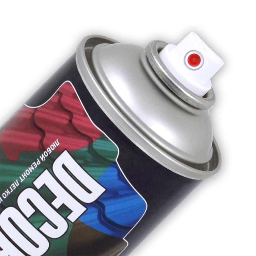 Аэрозольная эмаль для металлочерепицы и профнастила DECORIX 520 мл полуглянцевая
