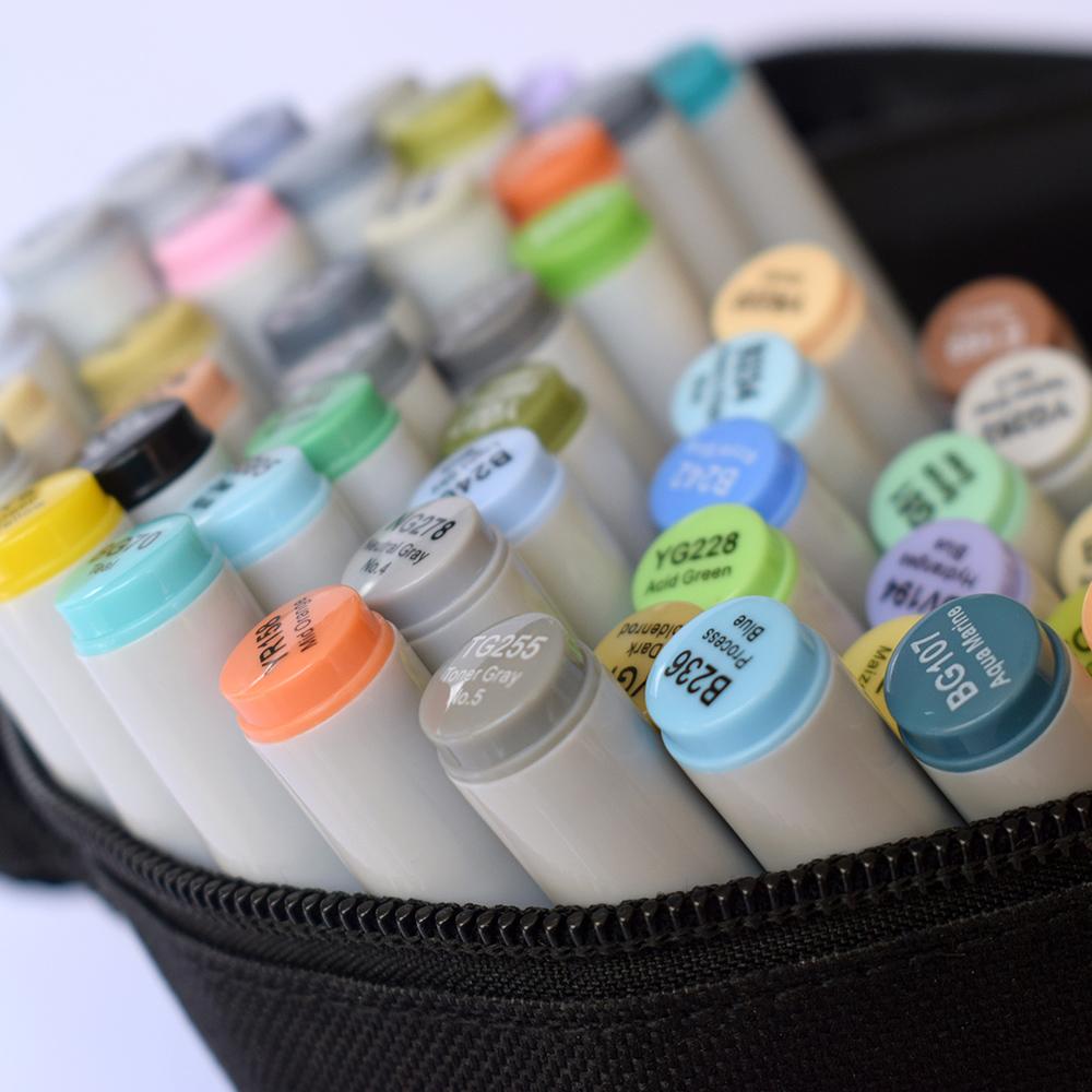 Профессиональные двусторонние спиртовые маркеры Artisticks® ARS 101-60 BAG