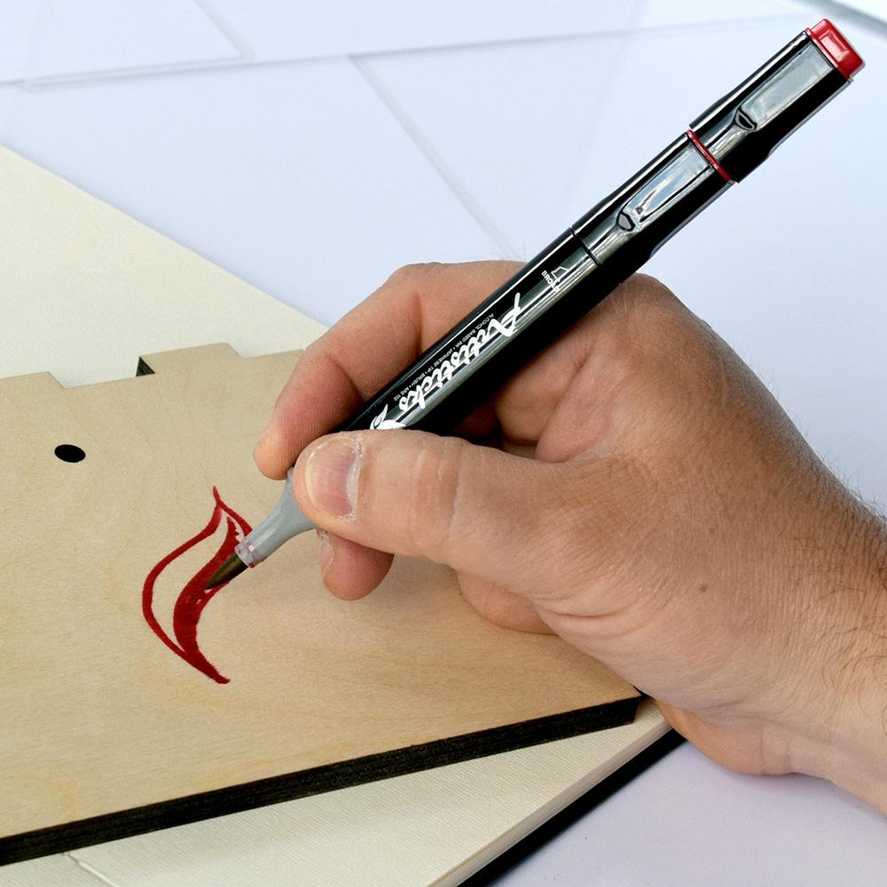Профессиональные двусторонние художественные маркеры Artisticks® ARS 102-12 BOX  на спиртовой основе