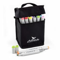 Профессиональные двусторонние спиртовые маркеры Artisticks® ARS 100-24 BAG