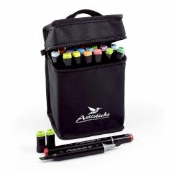 Профессиональные двусторонние спиртовые маркеры Artisticks® ARS 102-24 BAG