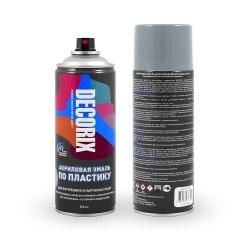 Аэрозольная эмаль по пластику DECORIX 520 мл глянцевая