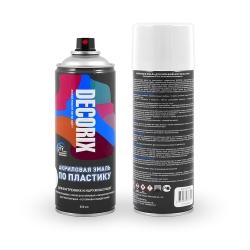Аэрозольная эмаль по пластику DECORIX 520 мл матовая
