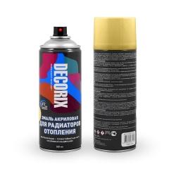Аэрозольная эмаль для радиаторов DECORIX 520 мл глянцевая