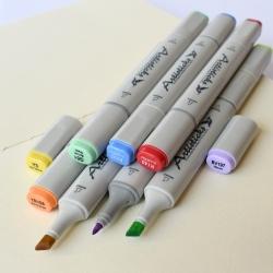 Профессиональные двусторонние художественные маркеры Artisticks® ARS 100-12 BOX на спиртовой основе