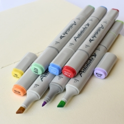 Профессиональные двусторонние спиртовые маркеры Artisticks® ARS 100-48 BAG