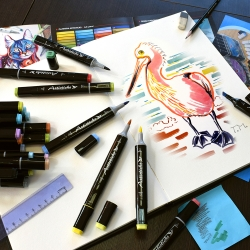 Профессиональные двусторонние художественные маркеры Artisticks® поштучно ARS 102 на спиртовой основе