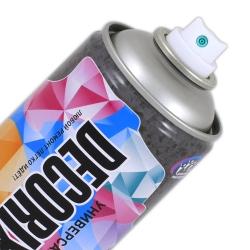 Аэрозольная краска антикоррозийная для защиты металла «Холодное цинкование» Цинк 96% DECORIX 520 мл матовая